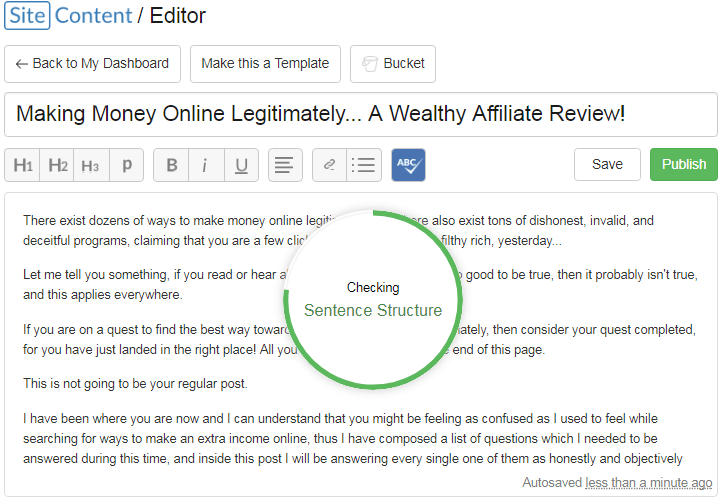 Wealthy Affiliate Spelling Checker
