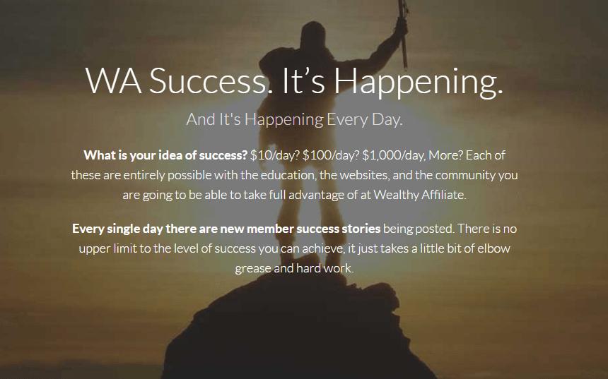 Wealthy Affiliate Success 6