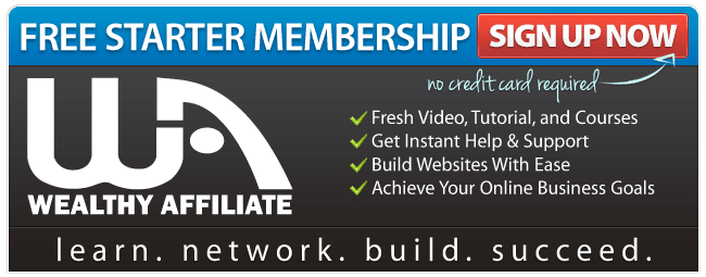 Wealthy Affiliate Starter Free Sign Up