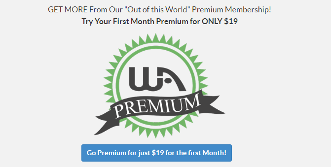 Wealthy Affiliate premium first month 19$