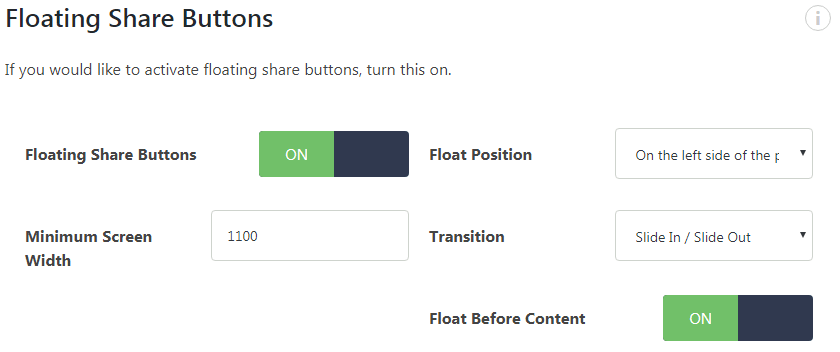 Social Warfare Floating Buttons