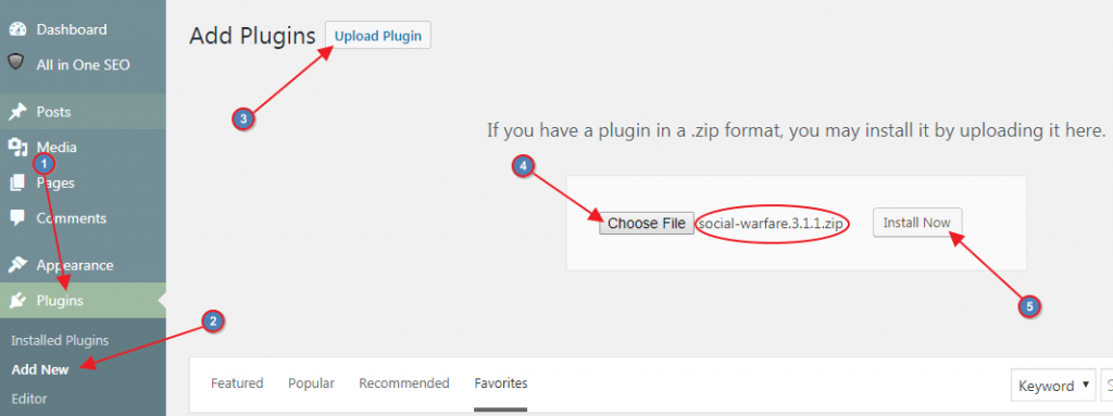 Upload and Install New WordPress Plugin