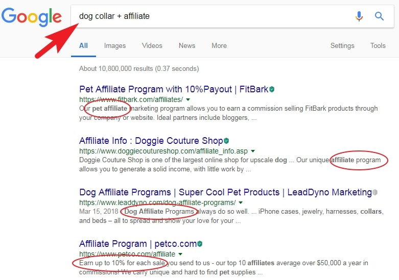 Find Affiliate Marketing Programs Through Google Search