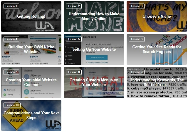 Wealthy Affiliate First 10 Free Lessons