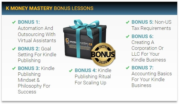 Kindle Money Mastery 2.0 Bonus Lessons
