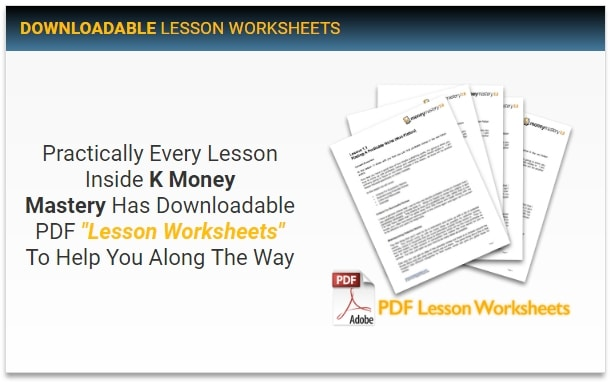 Kindle Money Mastery 2.0 Downloadable PDF Worksheets