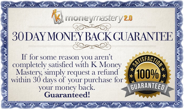 Kindle Money Mastery 2.0 Money Back Guarantee