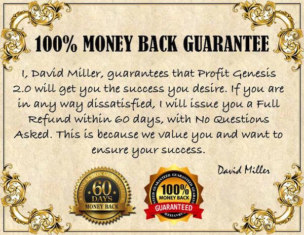 Profit Genesis 2.0 Money Back Guarantee