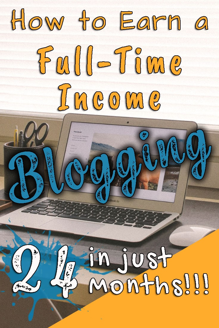 How To Earn a Full-Time Living Blogging in Just 24 Months