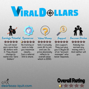 "Viral Dollars Review: More Like ""ZERO Dollars"""