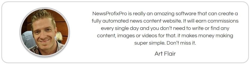News Profix Pro Fake Testimonial 1