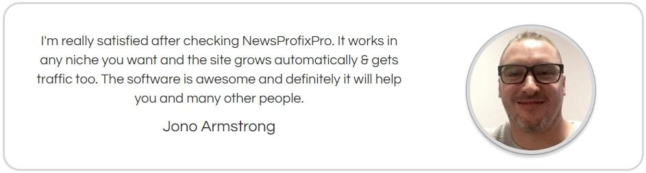 News Profix Pro Fake Testimonial 4