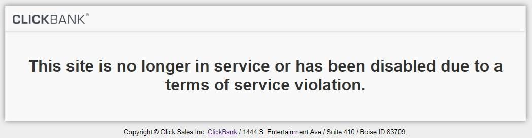 Passive Income Breakthrough ClickBank Suspended