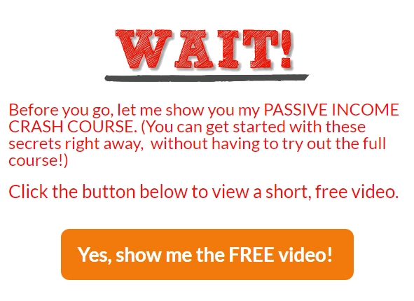 Passive Income Breakthrough Crash Course Popup