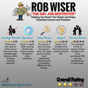 Passive Income Breakthrough Review: (aka the Day Job Destroyer)