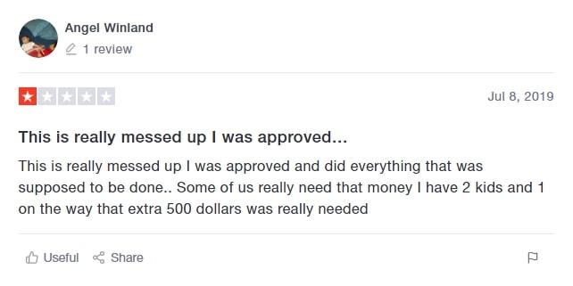 Referral Pay Sad Trustpilot Review