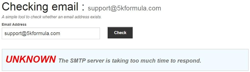 5k Formula System Bad Email