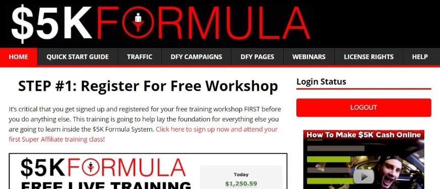 5k Formula System Members Area