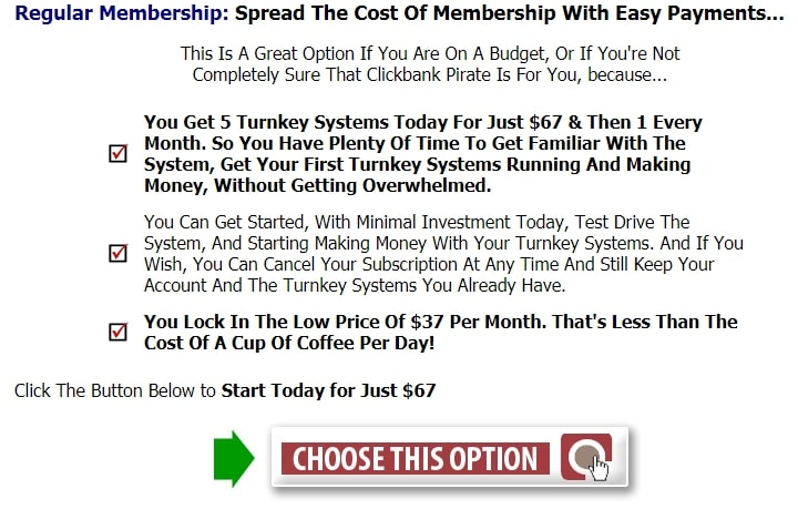 Clickbank Pirate Cost 1