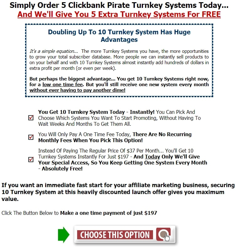 Clickbank Pirate Cost 2
