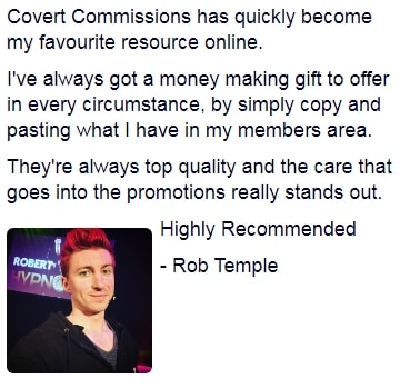 Covert Commissions Testimonial 2