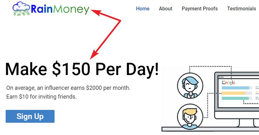 RainMoney.co Identical Scam