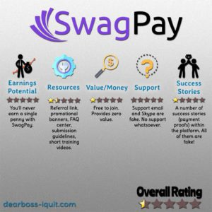 SwagPay Review: No Swag & No Pay Whatsoever…