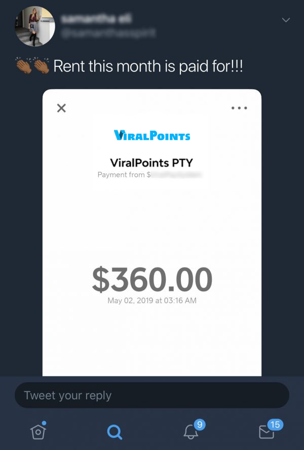 Viral Points Fake Payment Proof 2