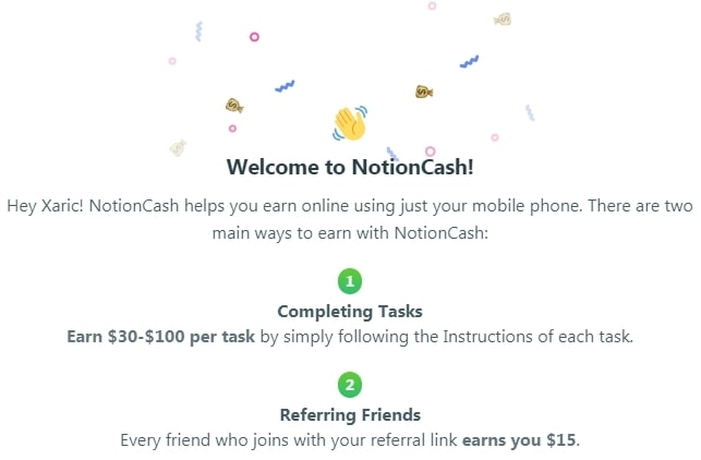 How Does Notion Cash Work