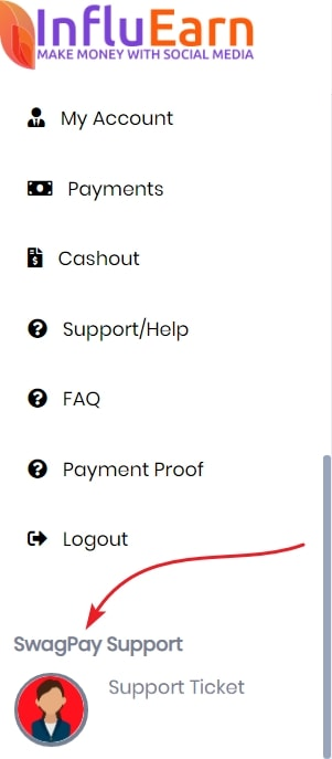 InfluEarn SwagPay Support