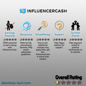 InfluencerCash.co Review: WARNING Stay Away!