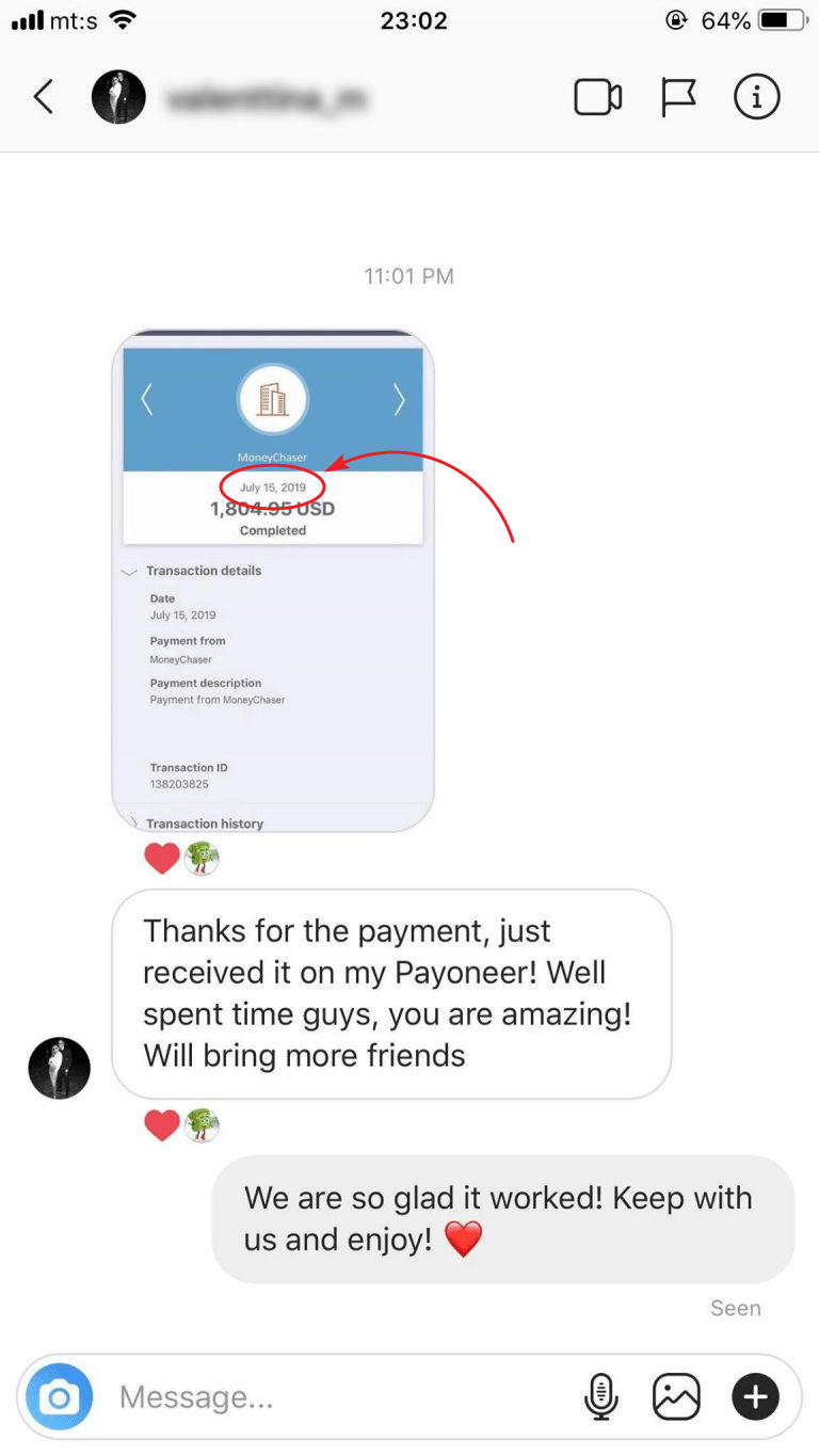 Money Chaser Payment Proof 4