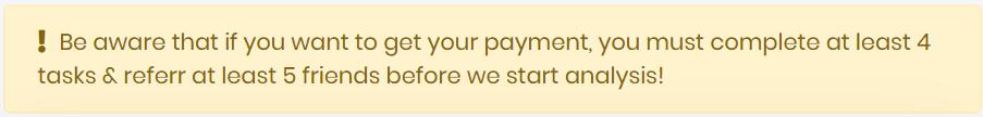 MoneyChaser Cashout Requirements