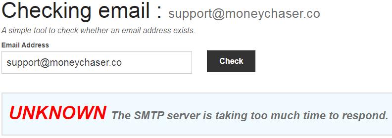 MoneyChaser Fake Email 1