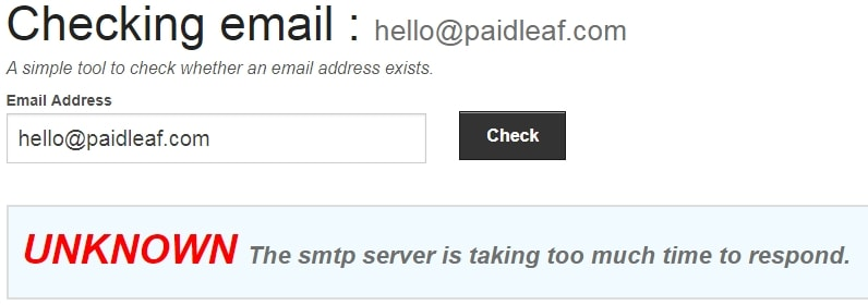 PaidLeaf Fake Email Address