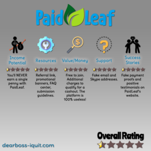 PaidLeaf.com Review: RUN Towards the Other Direction!