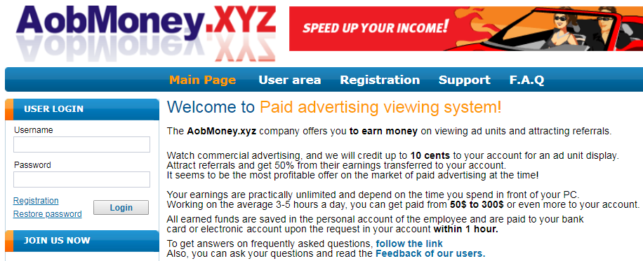 AobMoney.xyz Identical Scam