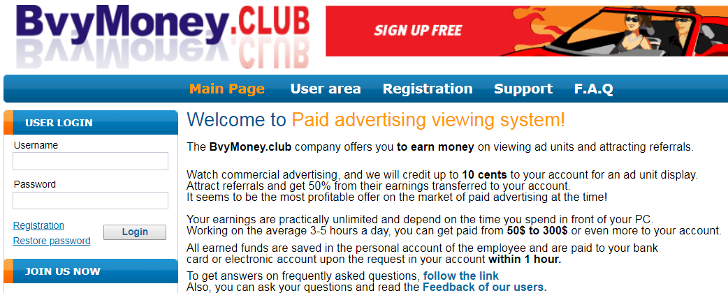 BvyMoney.club Identical Scam