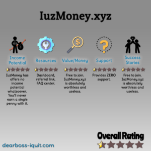 IuzMoney.xyz Review: READ THIS Before You WASTE Your Time!