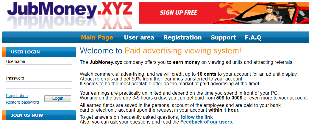 JubMoney.xyz Identical Scam