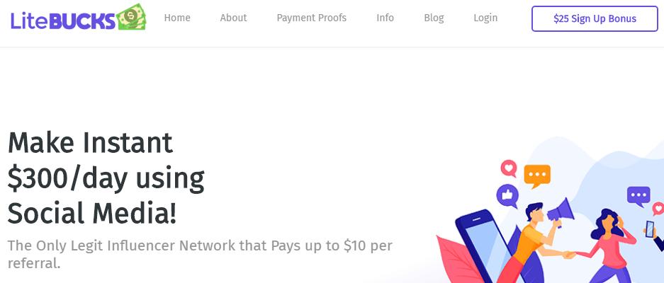 LiteBucks Make Instant $300 a Day Claim