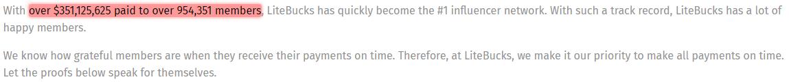 LiteBucks Unrealistic Claim 1