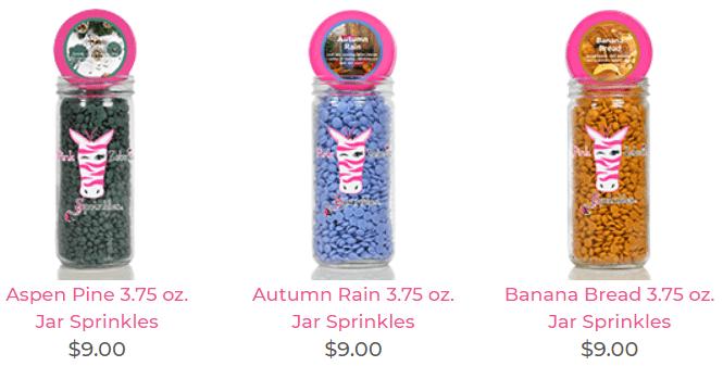 Pink Zebra Candle Sprinkles