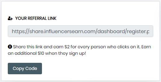 InfluencersEarn.com Referral Link