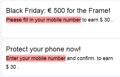 PaidNova.com Asking for Mobile Phone Number