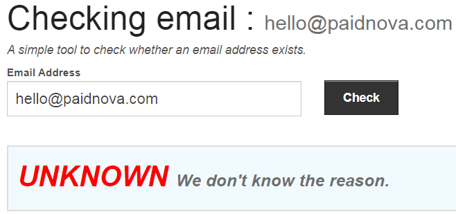 PaidNova.com Fake Email Address