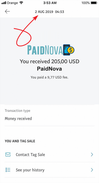 PaidNova.com Fake Payment Proof 3