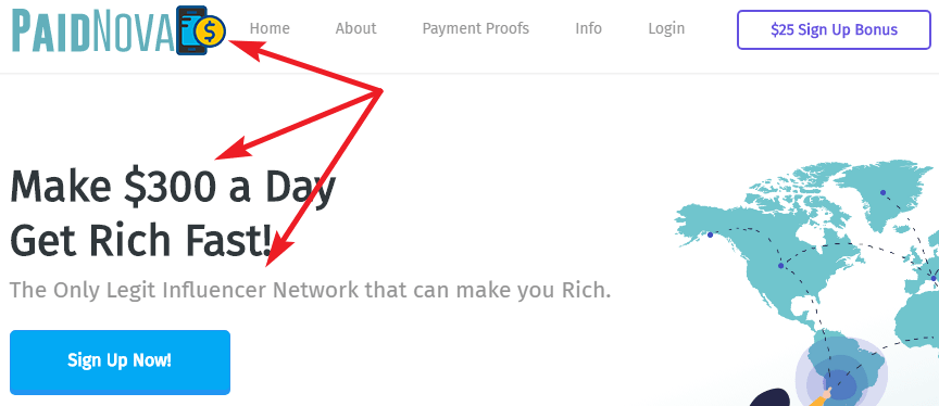 PaidNova.com Identical Scam