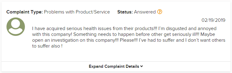 Plexus Worldwide BBB Complaint 1