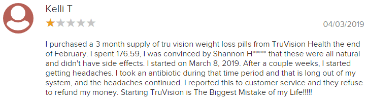 TruVision Health BBB Complaint 6